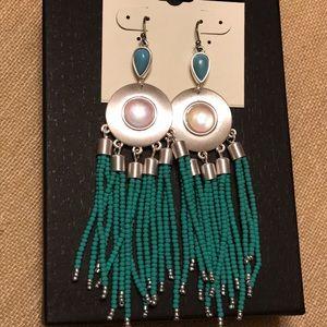 LAST ONE! NEW chandelier beaded drop boho earrings